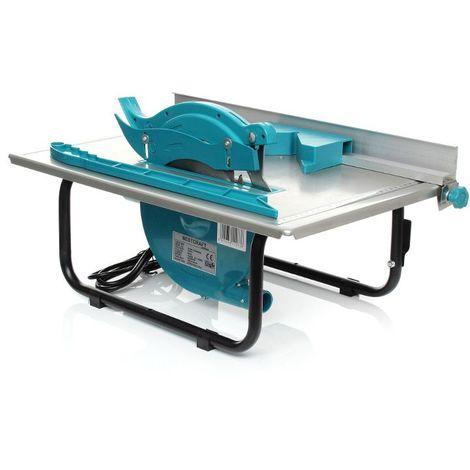 DCRAFT | Scie circulaire de table 1500W 2950 tours/min | Scie sur table bois | Scie électrique Coupage/Découpage | Outil Atelier | Argent/Bleu