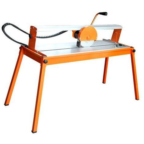 DCRAFT | Scie de carrelage électrique | Puissance 800 W | Vitesse de rotation 2950 tr/min | Coupe-carreaux | Outillage carreleur | Orange - Orange