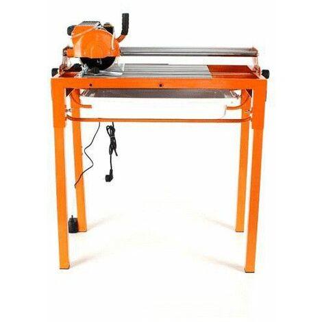 DCRAFT - Scie électrique carrelage - Scie sur table coupe de carreaux de céramique - Puissance 800W - Coupe-carrelage - Orange
