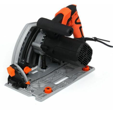 DCRAFT - Scie plongeante - Puissance 1400W - Vitesse 5000 tr/min - Diamètre disque 165mm - Scie circulaire - Orange
