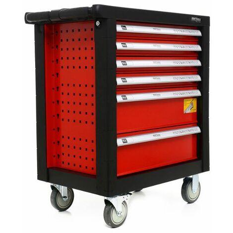 DCRAFT - Servante d'atelier avec outils - 263 outils- 78 x 48 x 100 cm - 6 tiroirs - Rouge