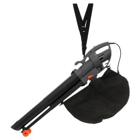 DCRAFT | Souffleur de feuilles électrique | Puissance nominale 3600 W | Broyeur À Feuilles | Capacité du sac de collecte 35 l - Noir