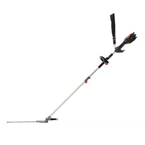 DCRAFT | Taille-haie électrique sur perche | Puissance nominale 1000 W | Longueur des ciseaux de coupe 410 mm | Outil jardinage - Noir