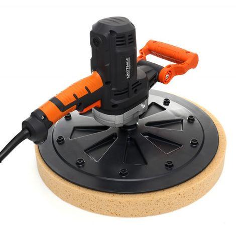 DCRAFT | Talocheuse électrique 1050 W | Diamètre de la pale 370 mm | Truelle à main | Outillage bricolage chantier - Noir