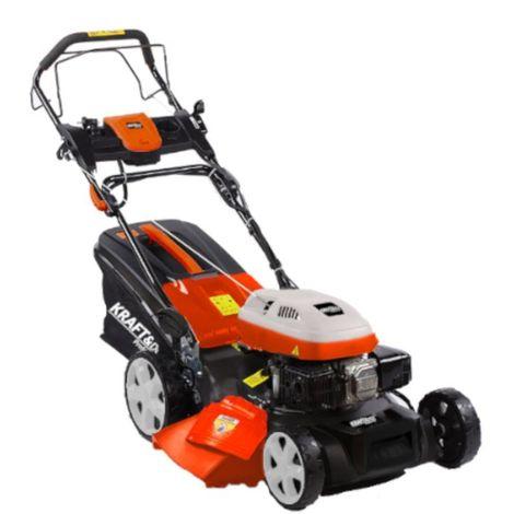 DCRAFT | Tondeuse à gazon thermique avec mulching | Cylindrée 173cm3 | Vitesse nominale 2800 tour/min | Outillage jardin pelouse - Rouge