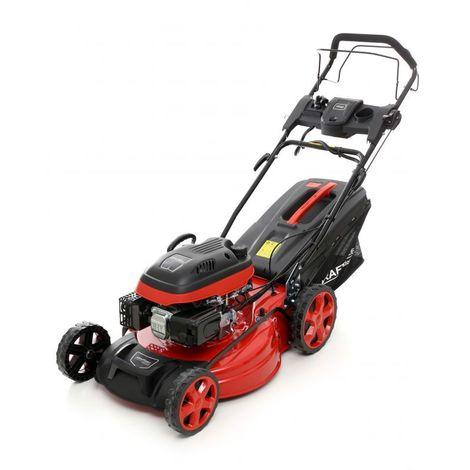 DCRAFT | Tondeuse à gazon thermique + mulching | Cylindrée 173cm3 | Vitesse nominale 2800 tour/min | Outillage jardin pelouse - Orange