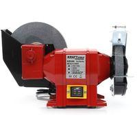 DCRAFT | Touret combiné avec meule à eau 1800W | Touret à meuler à eau à sec | Vitesse de rotation 2950 tours/min | Outil Atelier | Rouge