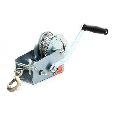 DCRAFT   Treuil manuel à manivelle Poids maximal 545 kg   Treuil manuel traction/lavage/helage   Treuil à manivelle bateaux/quads - Argent