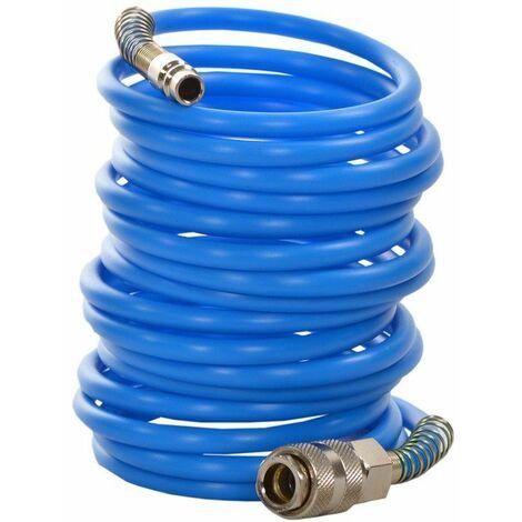 DCRAFT - Tuyau pneumatique à raccords rapides - 20 m - Diamètre extérieur 10 mm - Flexible pneumatique - Bleu