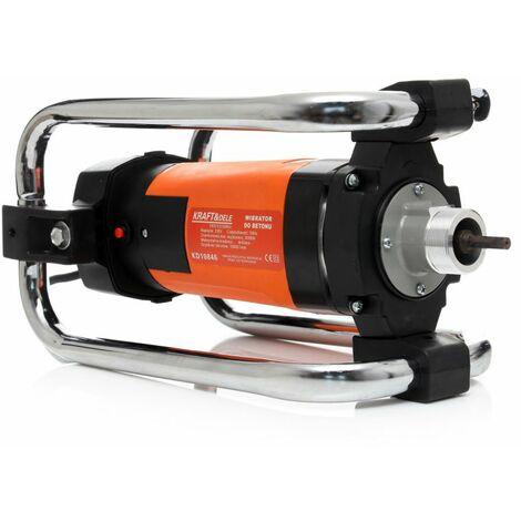 DCRAFT - Vibrateur à béton électrique - 220V - Puissance 2350W - 18000 tr/min - Aguille 4m - Diamètre 38mm - Orange