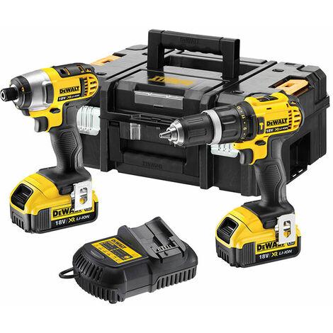 DCZ285M2 Combi Drill & Impact Driver Twin Pack 18V 2 x 4.0Ah Li-ion