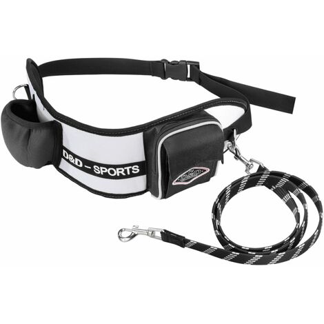 D&D Dog Leash Sports Active Walker 110 cm Big Black 313/415283