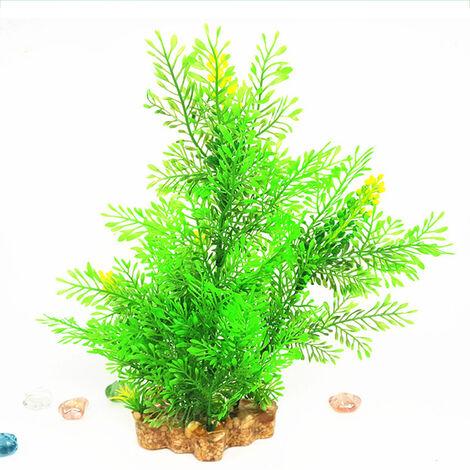 De 12 pulgadas Tall Plantas de acuario artificiales plantas artificiales de plastico Adornos Natural Artificial follaje de plantas de bricolaje plantas falsas realistas, Tipo 1