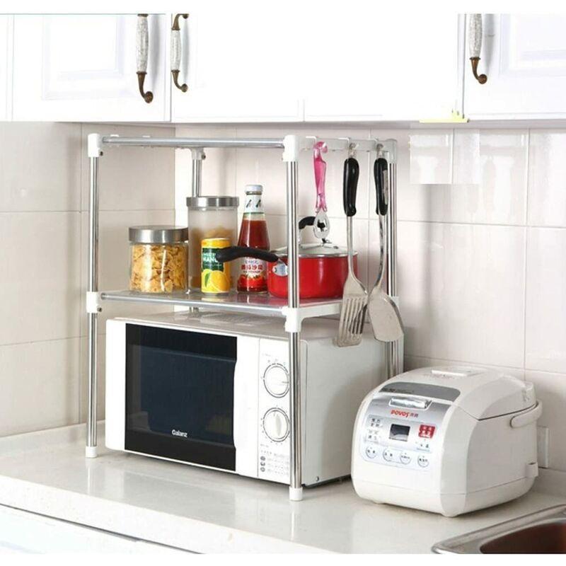 Bares - de cuisine en acier inoxydable étagère de stockage de four à micro-ondes étagère Rack 30,5 cm D X 89,9 cm L x 61,5 cm H