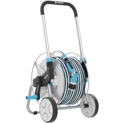De haute qualité à roues extérieur chariot de jardin bobine arrosage panier + 50m tuyau
