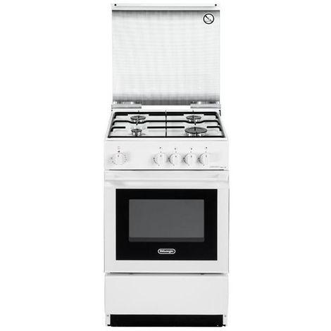 De Longhi SESW 554 N Cucina a Gas Libera installazione 40Lt Forno Elettrico  Bianco
