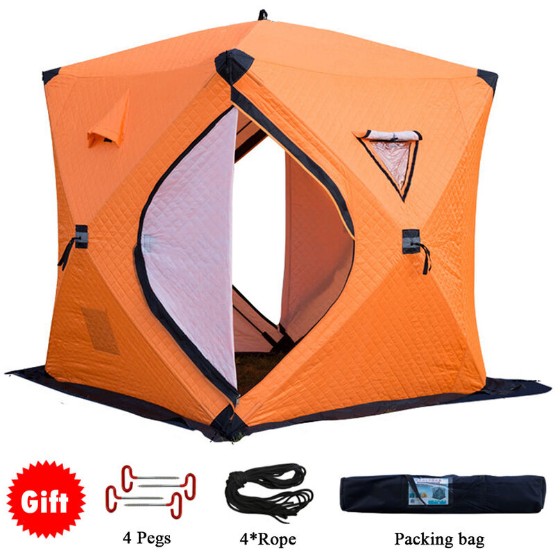 Asupermall - De Plus En Coton Epais Tente De Peche Hiver, Orange
