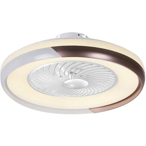 De techo moderna Lampara ventilador con control remoto de 3 colores de la luz 3 Velocidad del viento 50cm ventiladores de techo 220V de iluminacion LED para el dormitorio Sala Comedor Decoracion, Champagne de oro