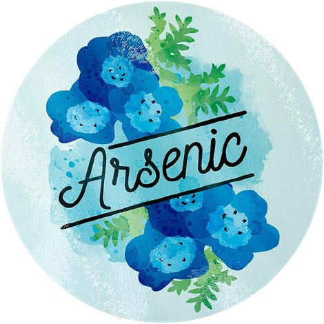 Deadly Detox Arsenic Circular Glass Chopping Board (One Size) (Blue)