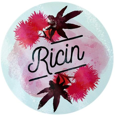 Deadly Detox Ricin Circular Glass Chopping Board (One Size) (Pink)