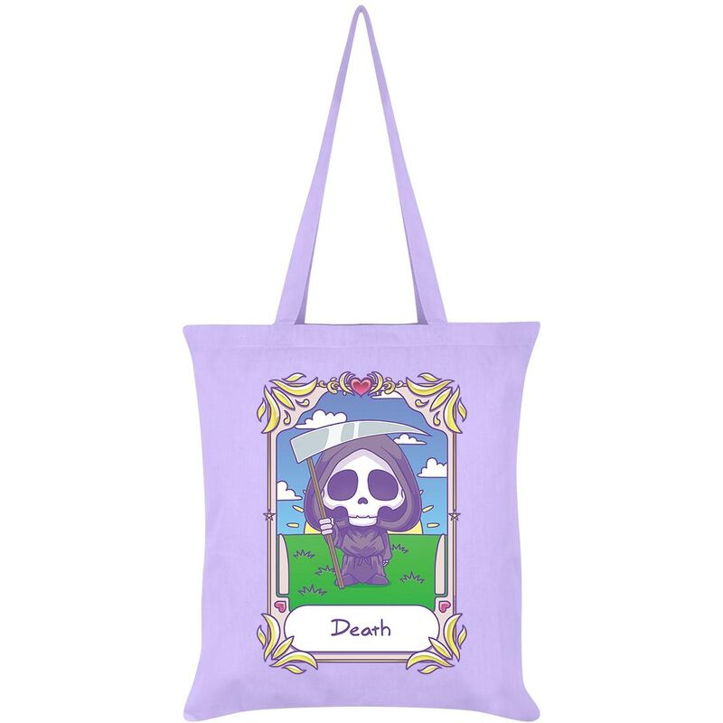 Image of Deadly Tarot Death Kawaii Tote Bag (One Size) (Lilac)