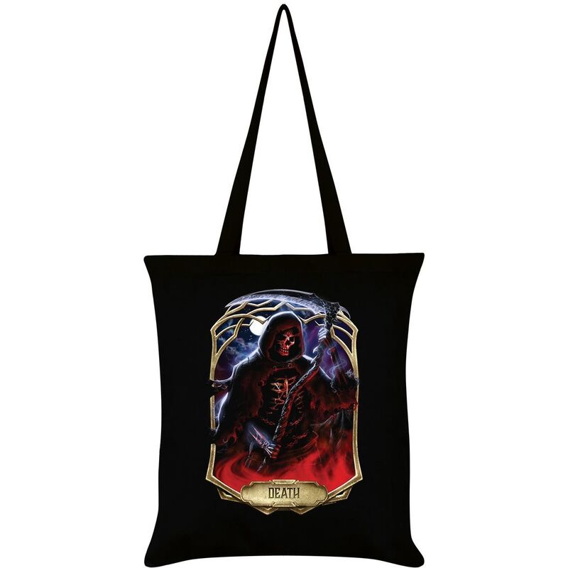 Image of Deadly Tarot Obsidian Death Tote Bag (One Size) (Black)