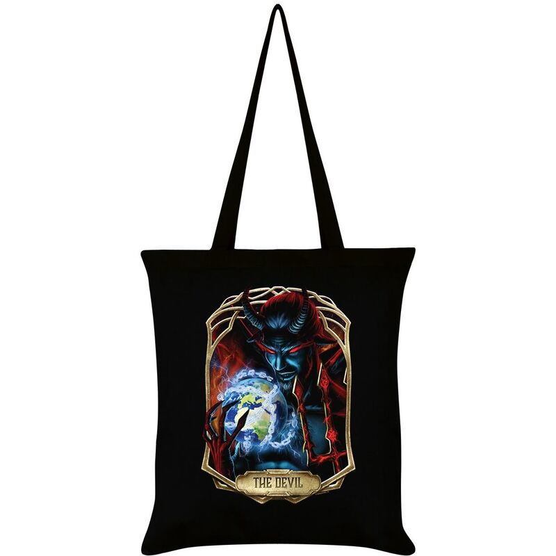 Image of Deadly Tarot Obsidian The Devil Tote Bag (One Size) (Black)
