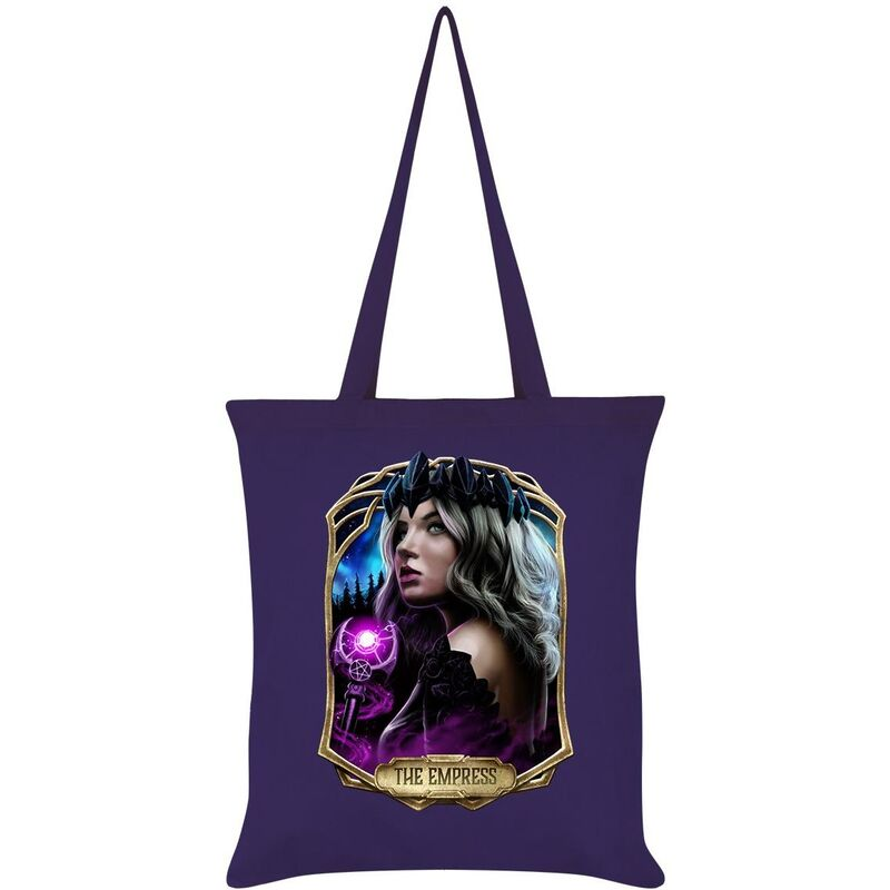 Image of Deadly Tarot Obsidian The Empress Tote Bag (One Size) (Purple)