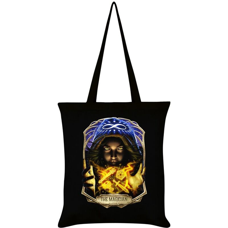 Image of Deadly Tarot Obsidian The Magician Tote Bag (One Size) (Black/Blue/Yellow)