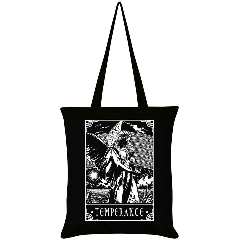 Image of Deadly Tarot Temperance Tote Bag (One Size) (Black/White)