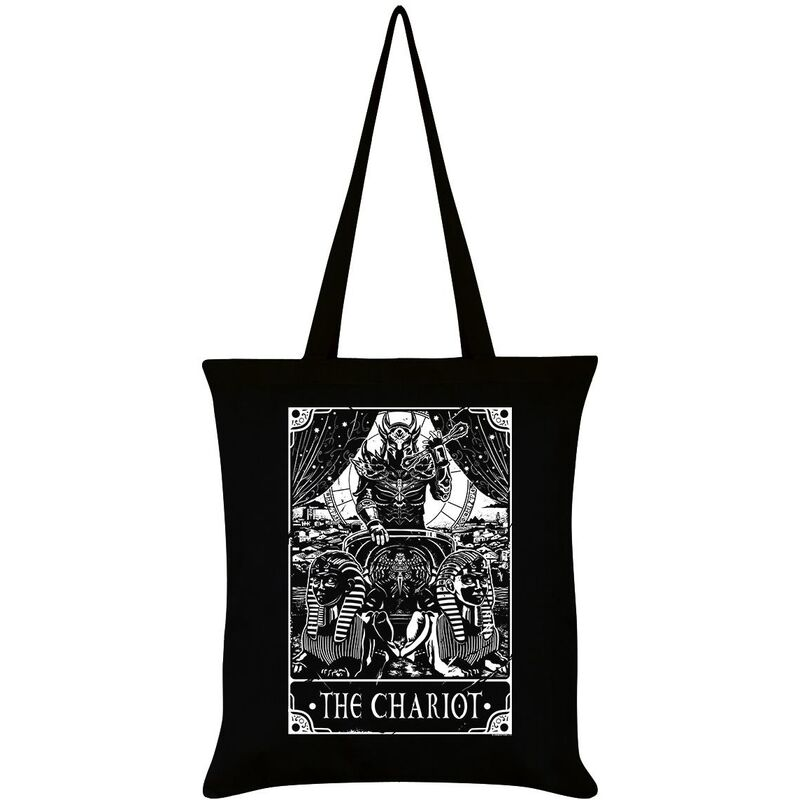 Image of Deadly Tarot The Chariot Tote Bag (One Size) (Black)