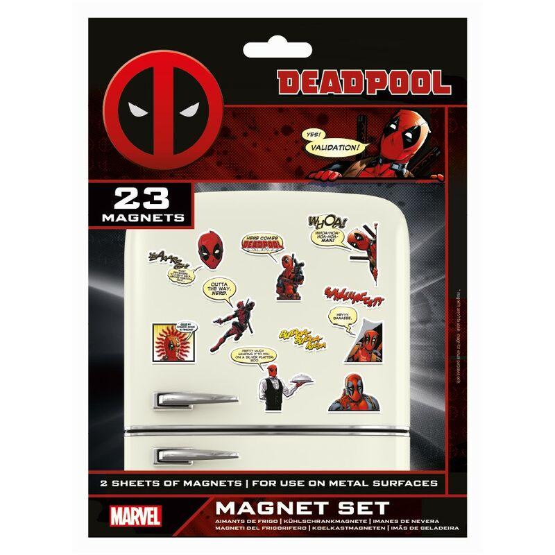 Image of Comic Fridge Magnet (Pack of 23) (One Size) (Multicoloured) - Deadpool