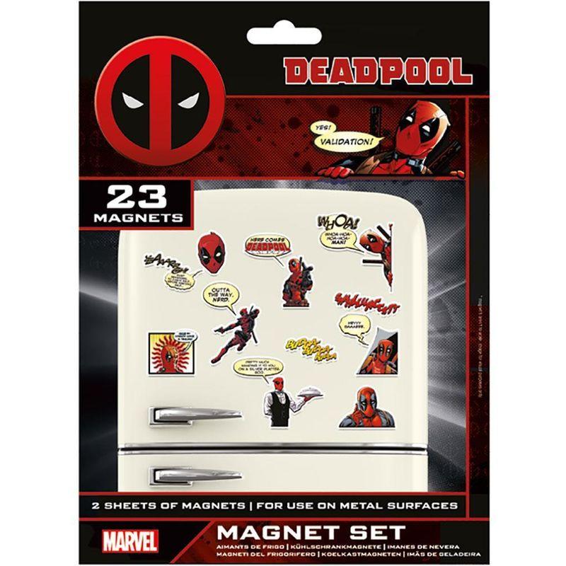 Image of Fridge Magnet Set (Pack of 23) (One Size) (Multicoloured) - Deadpool