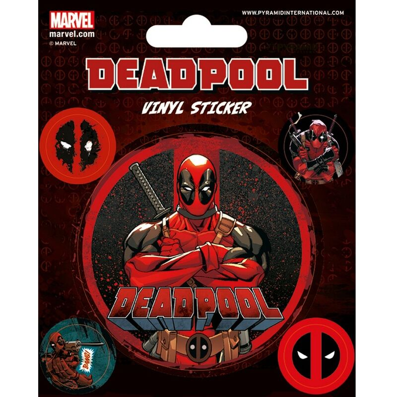 Image of Deadpool Stick This Vinyl Stickers (Pack Of 5) (One Size) (Red/Black)