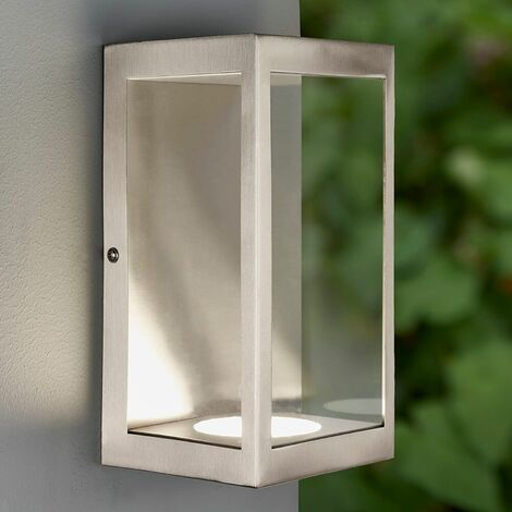 Dean outdoor wall light Stainless steel and glass