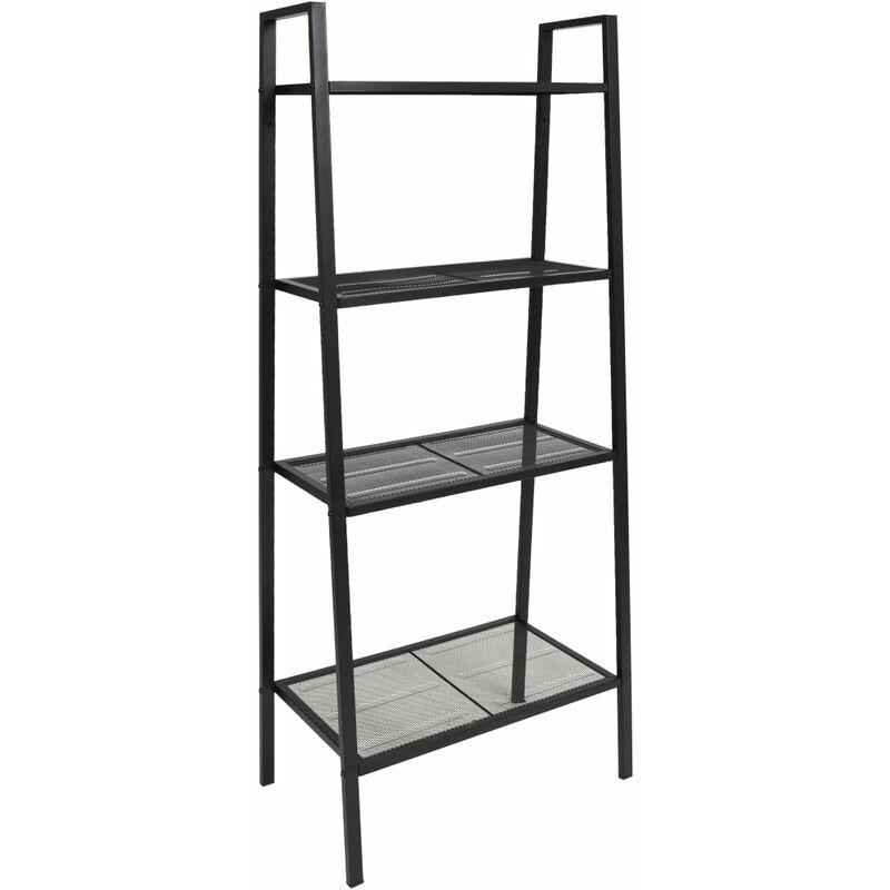 Image of Deann Ladder Bookcase by Bloomsbury Market - Black