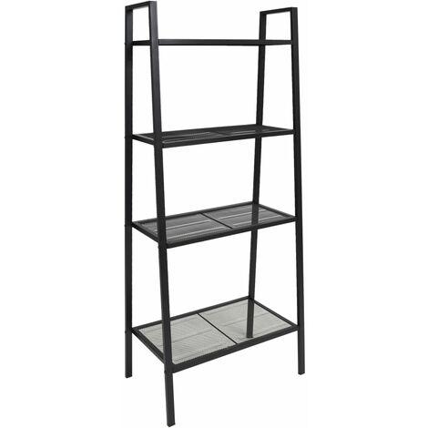 Deann Ladder Bookcase by Bloomsbury Market - Black