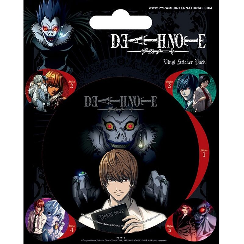 Image of Vinyl Stickers (Pack of 5) (One Size) (Black) - Death Note