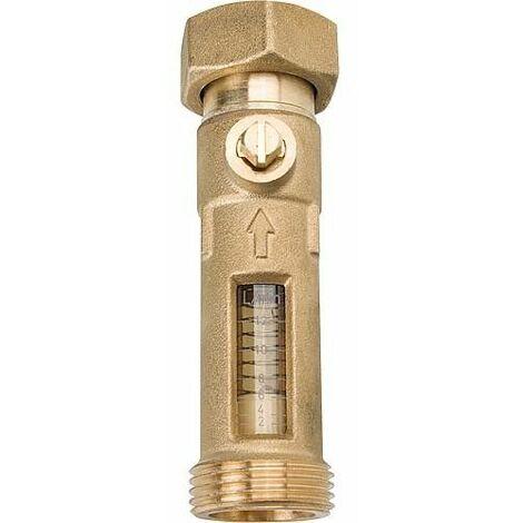 Débitmètre filetage male 1 x écrou chapeau 1 débit 2-12 l/min