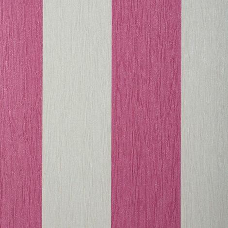 Debona Crystal Stripe Pink/ Ivory Glitter Wallpaper