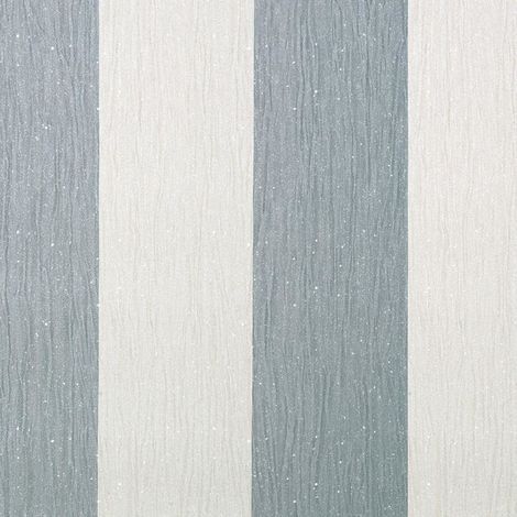 Debona Glitter Encrusted Vinyl Wallpaper Stripe in Ivory & Silver 9013
