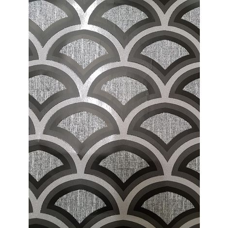 Debona Glitter Moon Black Wallpaper