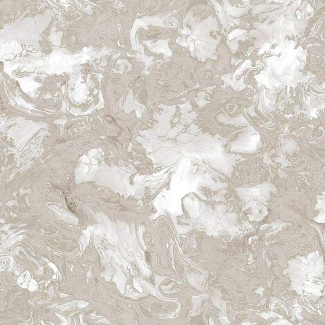 Debona Liquid Marble Metallic Glitter Shimmer Wallpaper - Rose Gold