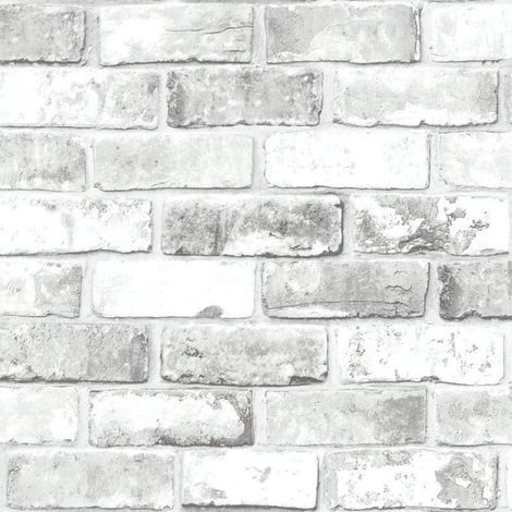 Debona Wallpaper White Brick Effect 6751
