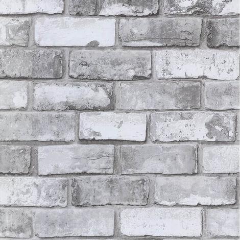 Debona Wallpaper White Brick Effect 6751