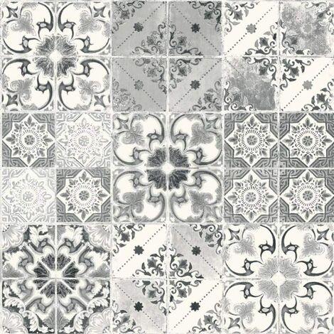Debona Washable Wallpaper Valencia Black & Silver 5010 Full Roll