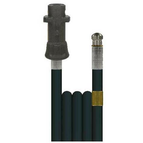 Débouche canalisation: flexible 20m + buse haute pression Karcher -