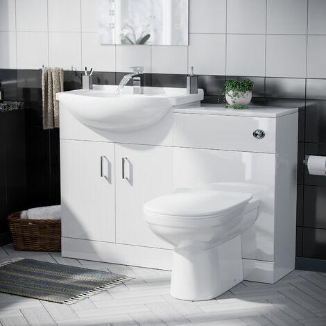 Debra Basin Sink 1150 mm Vanity Unit Toilet Pan WC Set