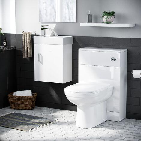 Debra Cloakroom Basin Vanity Unit Toilet Pan WC
