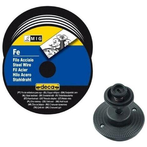 DECA Bobine fil acier pour soudure MIG/MAG Ø fil 0.6 mm 5 kg avec adaptateur